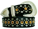 rhinestone crystal line dance belt