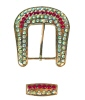 studded designer belt buckle