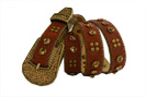 Ruby crystal luxury leather belt