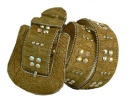 Faux Croc leather designer belt